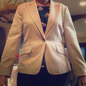 Beige fitted blazer
